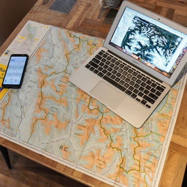 Map and navigation course for trail runners.
